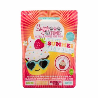 Sugar and Crumbs Natural Flavoured Icing Sugar CHERRY BAKEWELL 500g