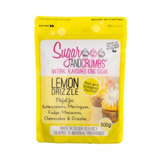 Sugar and Crumbs Natural Flavoured Icing Sugar LEMON DRIZZLE 500g