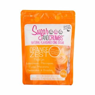 Sugar and Crumbs Natural Flavoured Icing Sugar ORANGE ZEST 500g