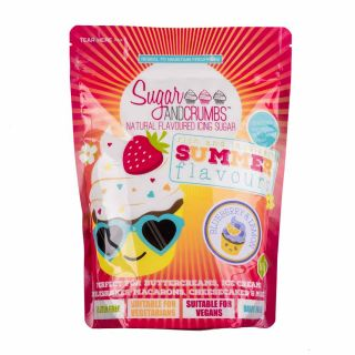 Sugar and Crumbs Natural Flavoured Icing Sugar BLUEBERRY AND LEMON 500g