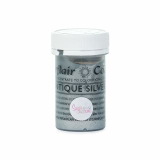 Sugarflair Satin Paste ANTIQUE SILVER 25g
