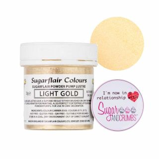 Sugarflair Edible LIGHT GOLD Finishing Sparkle TUB 25g