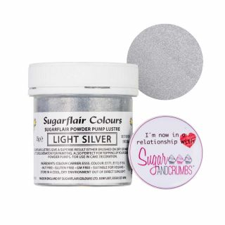 Sugarflair Edible LIGHT SILVER Finishing Sparkle TUB 25g