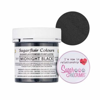 Sugarflair Edible MIDNIGHT BLACK Finishing Sparkle TUB 25g