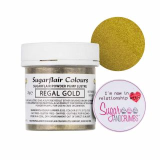 Sugarflair Edible REGAL GOLD Finishing Sparkle TUB 25g