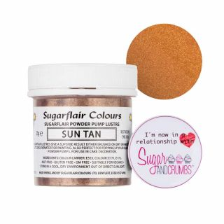 Sugarflair Edible SUN TAN Finishing Sparkle TUB 25g