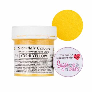 Sugarflair Edible YOSHI YELLOW Finishing Sparkle TUB 25g