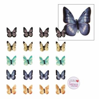 SugarSoft 20 Edible Butterflies 38mm