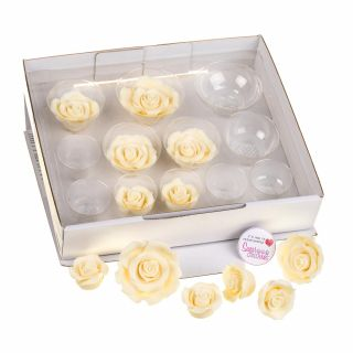 SugarSoft 12 Edible Assorted Ivory Roses