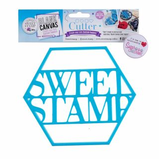 Sweet Stamp Blank Canvas CUTTER HEXAGON