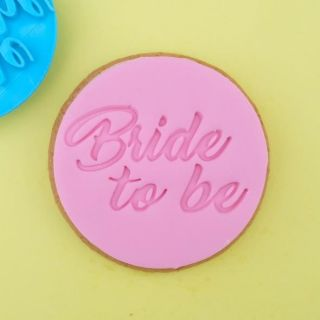 Sweet Stamp Cookie Embosser Classic Bride To Be