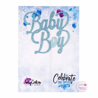Sweet Stamp Cake Topper Baby Boy
