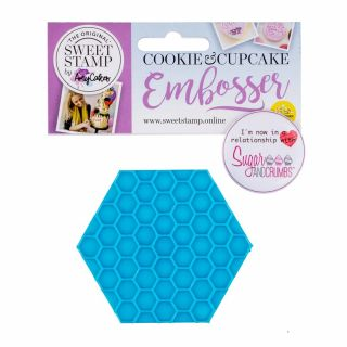 Sweet Stamp Cookie Embosser HONEYCOMB
