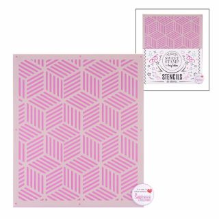Sweet Stamp Stencil Pattern 9