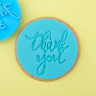 Sweet Stamp Cookie Embosser Thank You