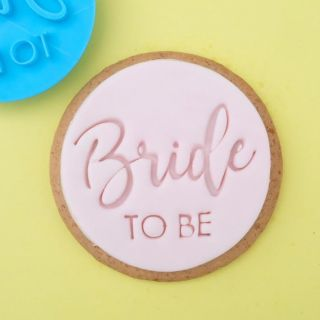Sweet Stamp Cookie Embosser Trendy Bride To Be