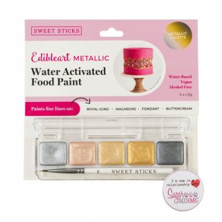 Sweet Sticks Mini Palette Food Paint METALLICS
