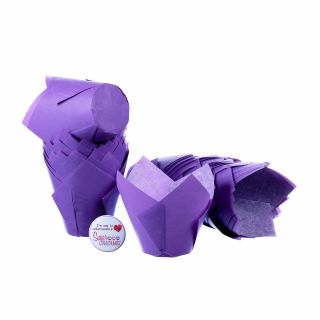 Tulip Muffin Wraps LILAC Pack of 50