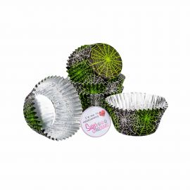 Baked with Love Cupcake Foil Cases SPIDERWEB Pack of 25