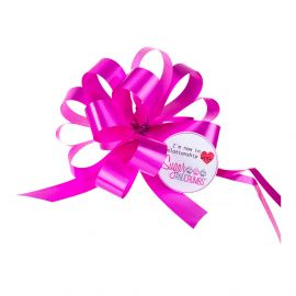 Cupcake Bouquet Ribbon Pull Bow CERISE