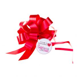 Cupcake Bouquet Ribbon Pull Bow RED