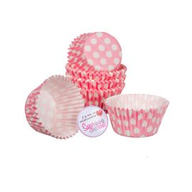 Cake Star Cupcake Cases PINK SPOT Pack of 54