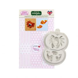 Katy Sue Sugar Buttons Silicone Mould CRAB AND FISH