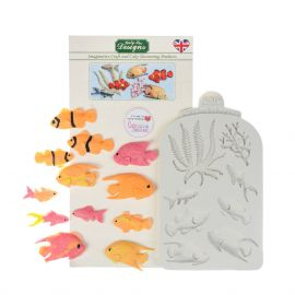 Katy Sue Silicone Mould FISH SEAWEED AND CORAL