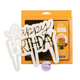 PME Cake Topper Cutter Modern HAPPY BIRTHDAY