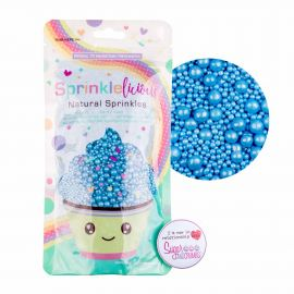 Sprinklelicious Party Mix Pearlised BLUE 100G