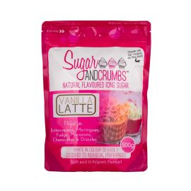 Sugar and Crumbs Natural Flavoured Icing Sugar VANILLA LATTE 500g