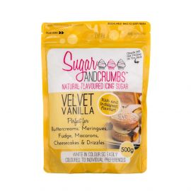 Sugar and Crumbs Natural Flavoured Icing Sugar VELVET VANILLA 500g