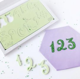 Sweet Stamp CURLY NUMBERS with Presentation Box