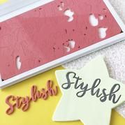 Sweet Stamp STYLISH Lettering Set with Presentation Box