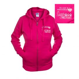 Sugar and Crumbs Zipped Hoodie Medium FUCHSIA Size 10 to 12